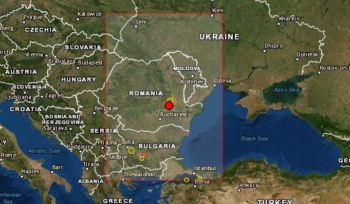 Fuerte sismo en Rumania hace poco minutos..