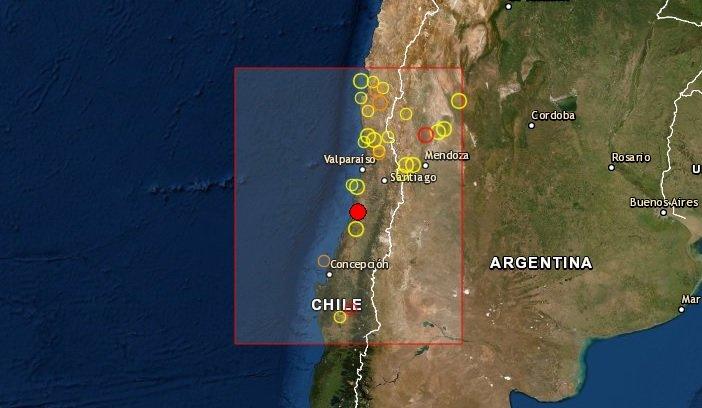 Potente sismo de 6.8 golpea a Chile sentido en Argentina