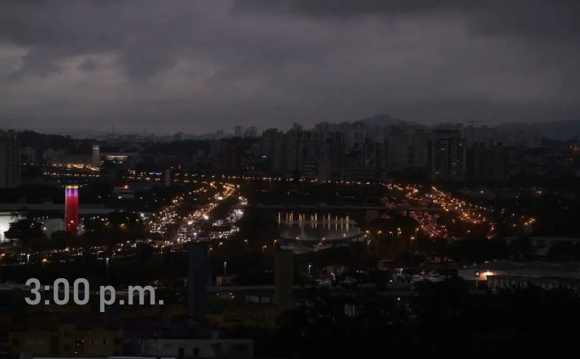 ¿Tres de la noche? Apocalíptico: El día se convierte en noche en Brasil el lunes en la tarde