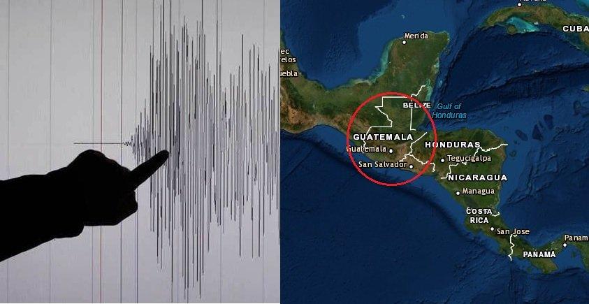 Fuerte sismo sorprende a Guatemala la madrugada de este sábado sin alerta de tsunami