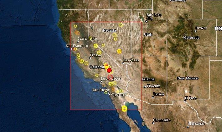 Sismo de 3.7 registrado alrededor de Ridgecrest en California