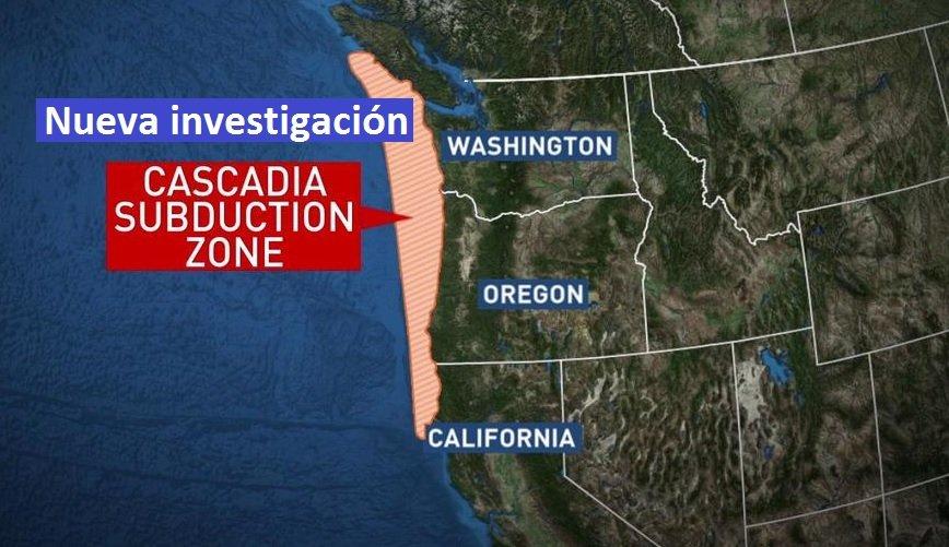 Un gran terremoto en la zona de subducción de cascadía podría provocar un terremoto en California