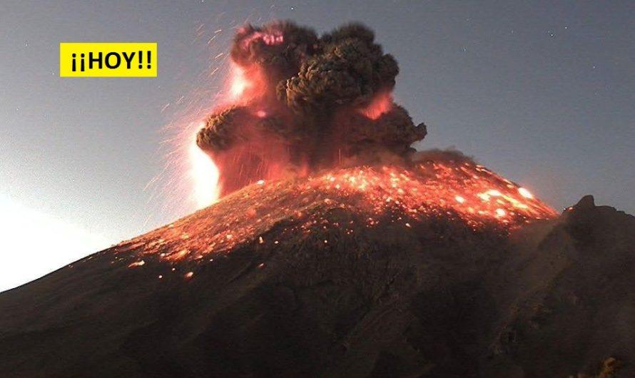 Entra en erupción el volcán Popocatepetl de México y emiten alerta amarilla