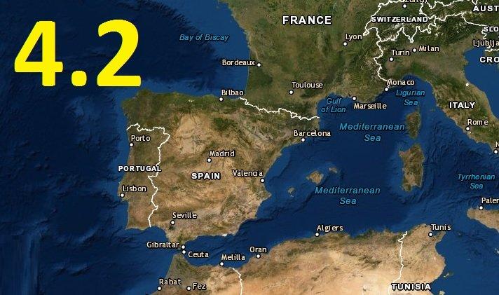 Movimiento sísmico de magnitud 4.2 sorprende España ¡HOY!