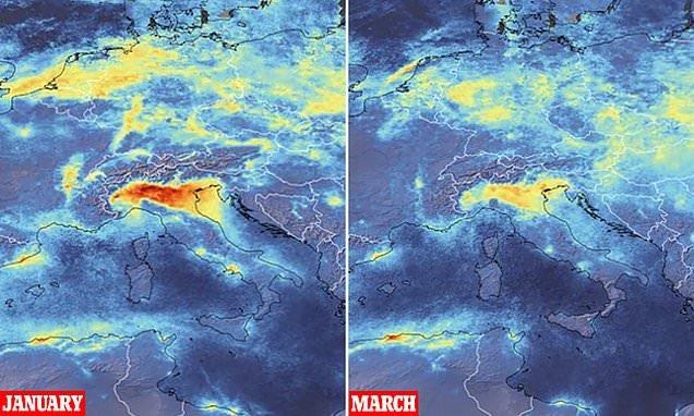 La contaminación del aire desaparece en Italia tras cuarentena por coronavirus