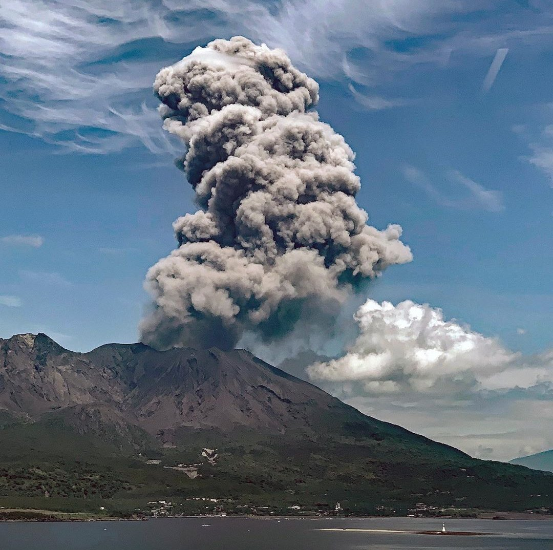 Entra en erupción el Volcán Monte Sakurajima de Kagoshima