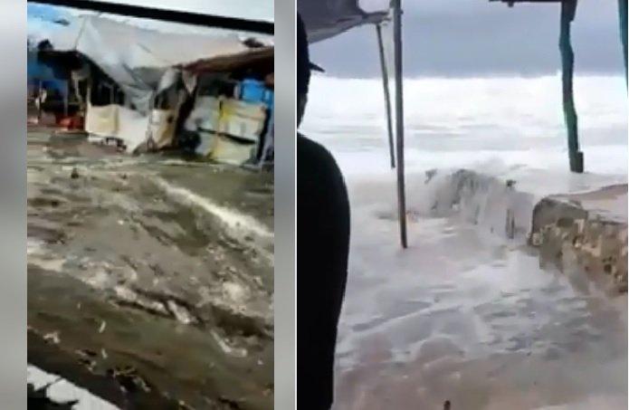 pequeño tsunami Indonesia
