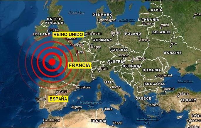 Sismo en Francia