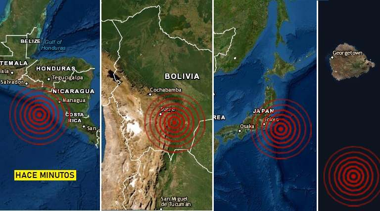 Sismos en Bolivia, Japón, Nicaragua y Ascension (1)