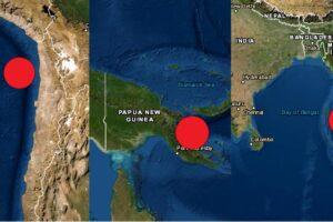 Chile, PNG e India sacudidos por sismos