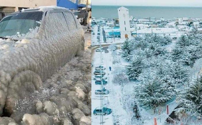 Ola de frió polar extremo en Argentina