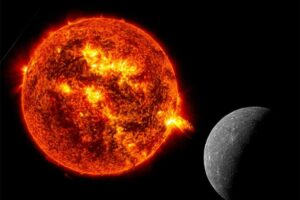 Viento solar se acerca a la Tierra