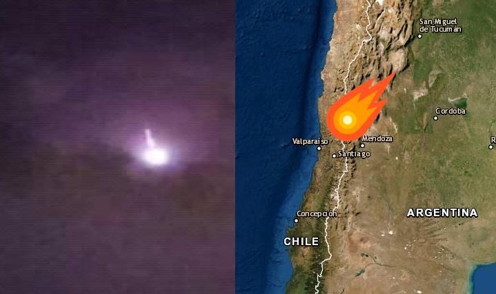 Meteorito en Chile Argentina
