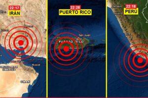 Sismos en Perú, Irán y Puerto Rico