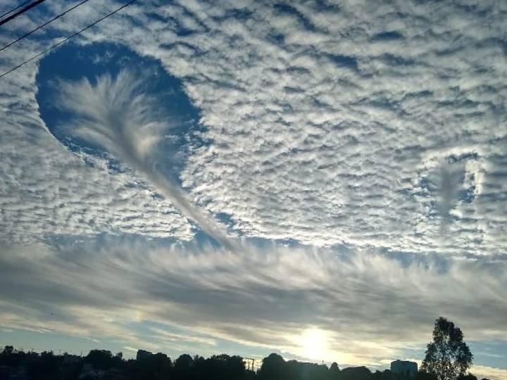 rara nube en brasil