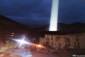 Destello de luz en México
