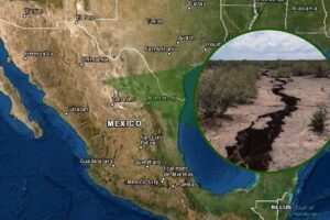 Falla geológica en Jiménez México