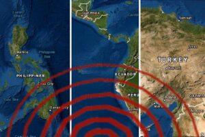 Sismos en Ecuador, Filipinas y Turquía
