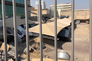 Derrumbe en Arabia Saudita