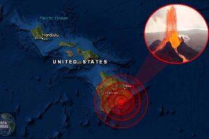 Enjambre de sismos en el volcán Kilauea de Hawai.