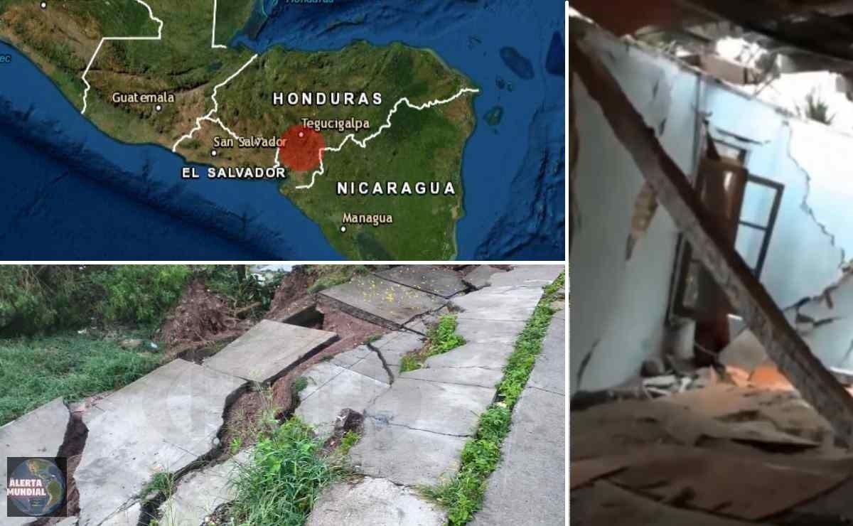 Falla geológica en Tegucigalpa, El Reparto, Honduras