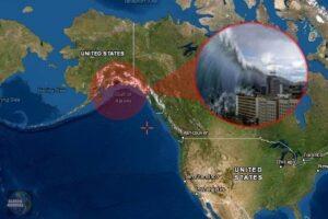 Mega-tsunami en Alaska por deslizamiento de tierra