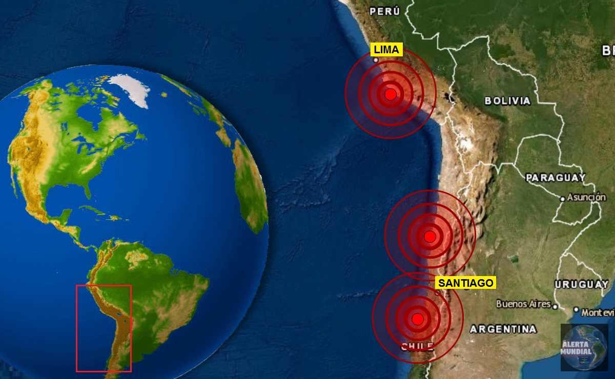 Sismo en Chile y Perú