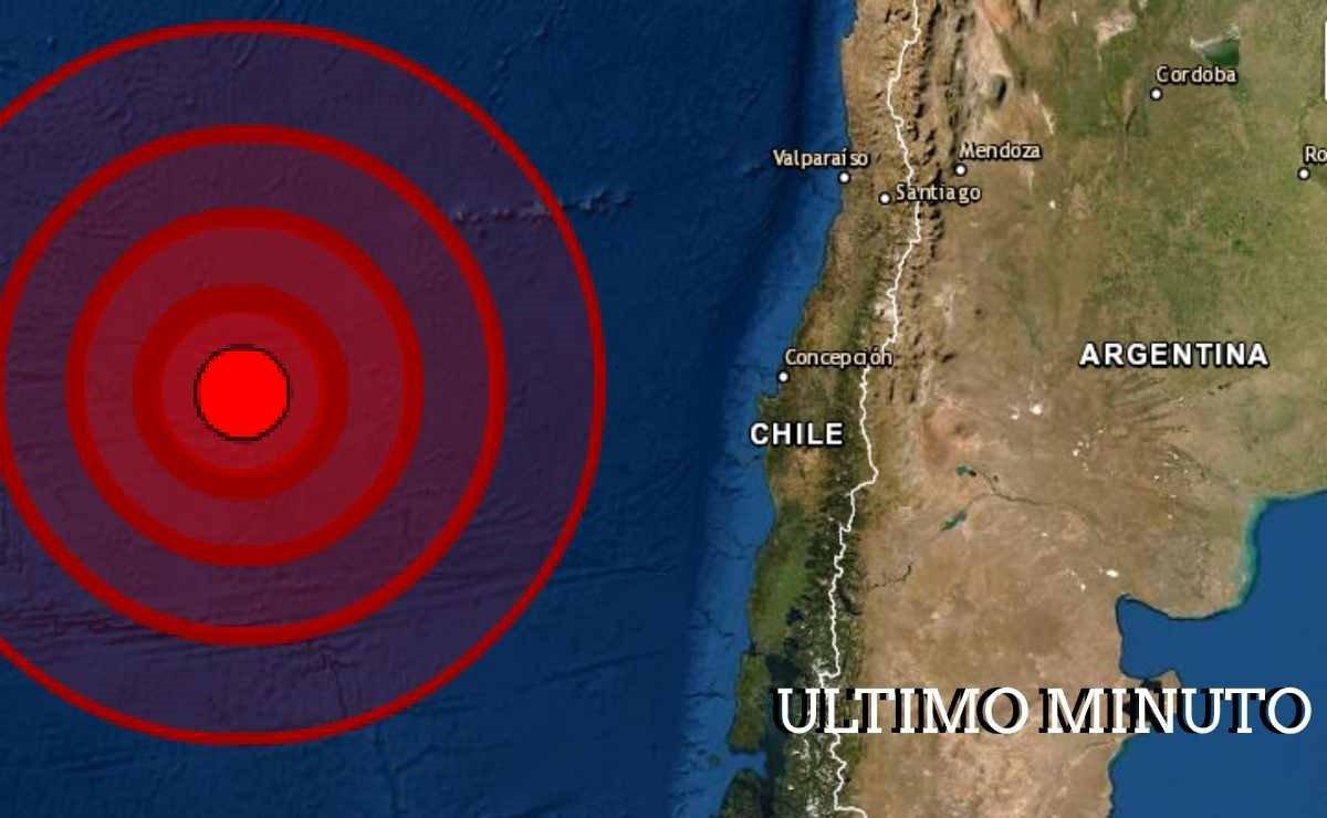Sismo en Dorsal de Chile