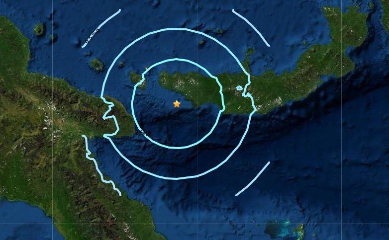 Sismo en Nueva Bretaña, Papúa Nueva Guinea