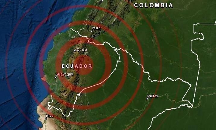Sismo en Pillaro, Ecuador