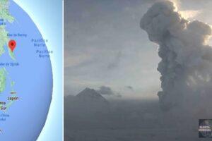 Volcán Bezymianny entra en erupción