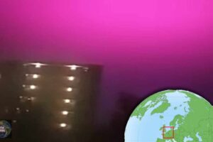 El cielo se tiño de rosa en Holanda