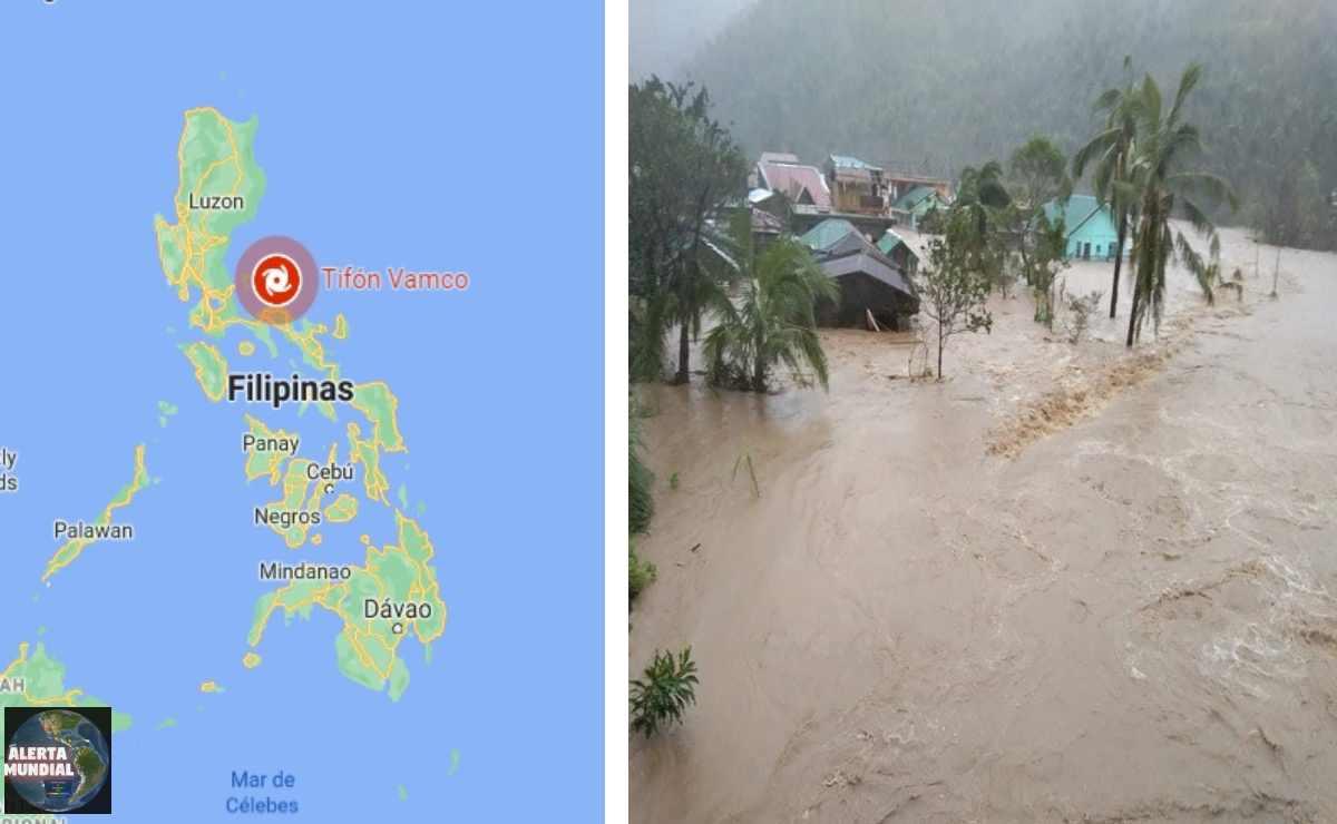 En vivo tifón Vamco en Filipinas