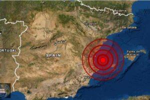 Enjambre de sismo en el Golfo de Valencia en España
