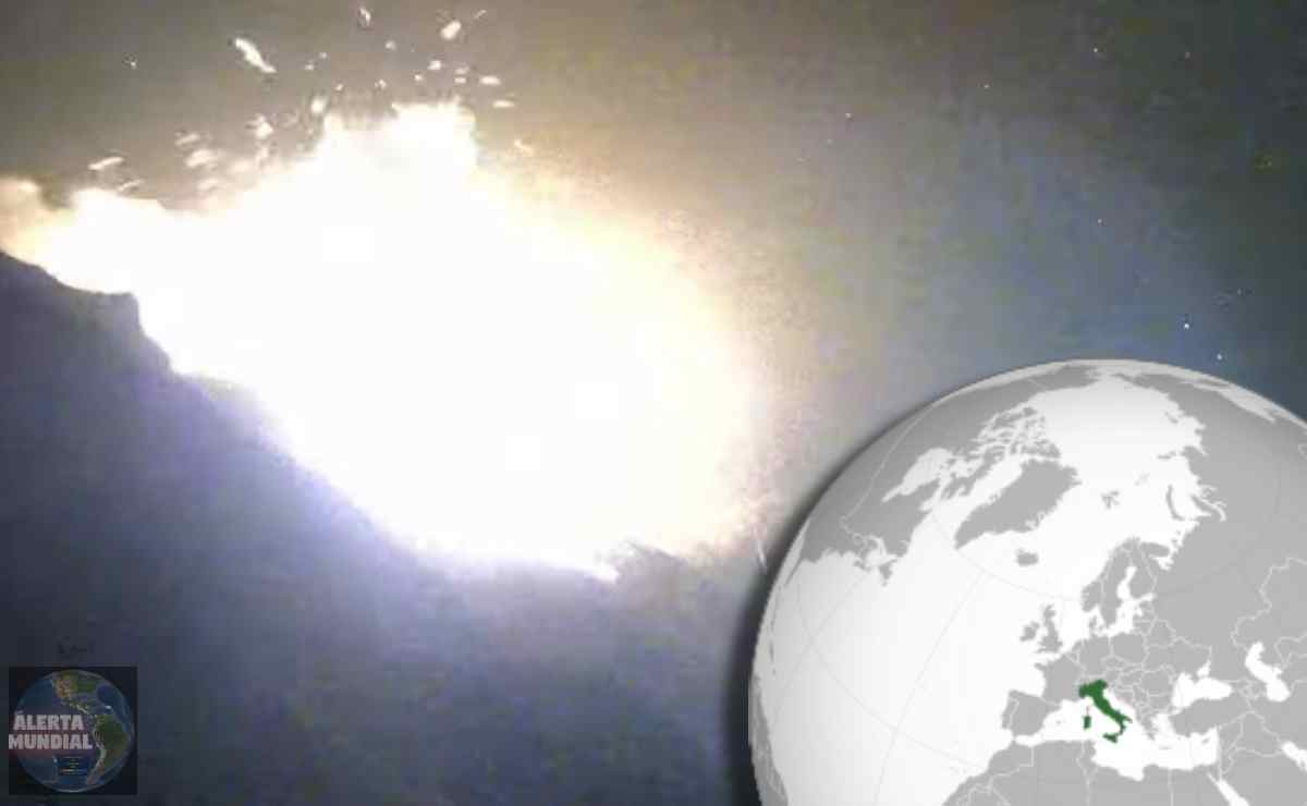 Explosión en Stromboli de Italia
