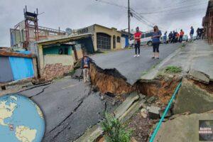 Grieta en Valladoid de Costa Rica provoca colapsos de casas
