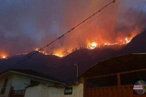 Incendio forestal en San Salvador de Cusco