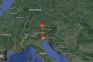 Meteorito en Alemania e Italia