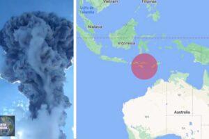 Monte Lewotolok erupción