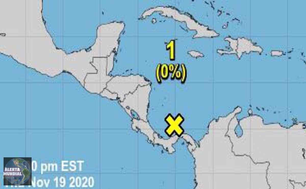 Se elimina toda posibilidad ciclónica localizada en el suroeste del Mar Caribe