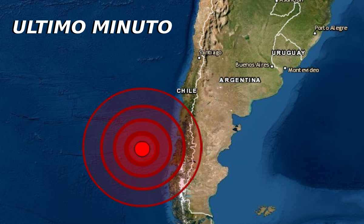 Sismo de magnitud 5.5 en Aysen, Chile
