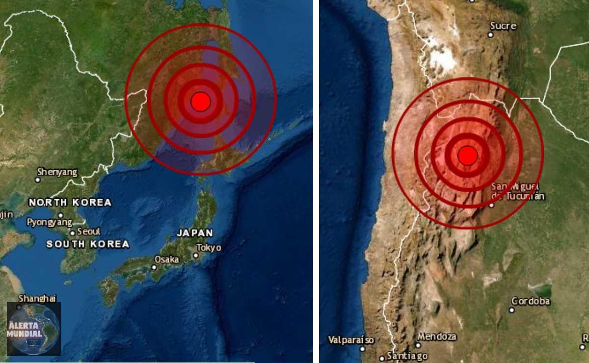 Sismo en Argentina Chile Japón y Rusia