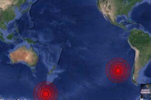 Sismo en la Isla de Pascua e Islas Balleny