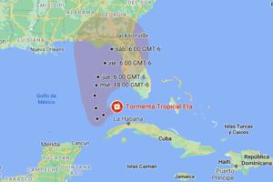 Tormenta tropical Eta se dirige hacia Florida tras azotar a Cuba