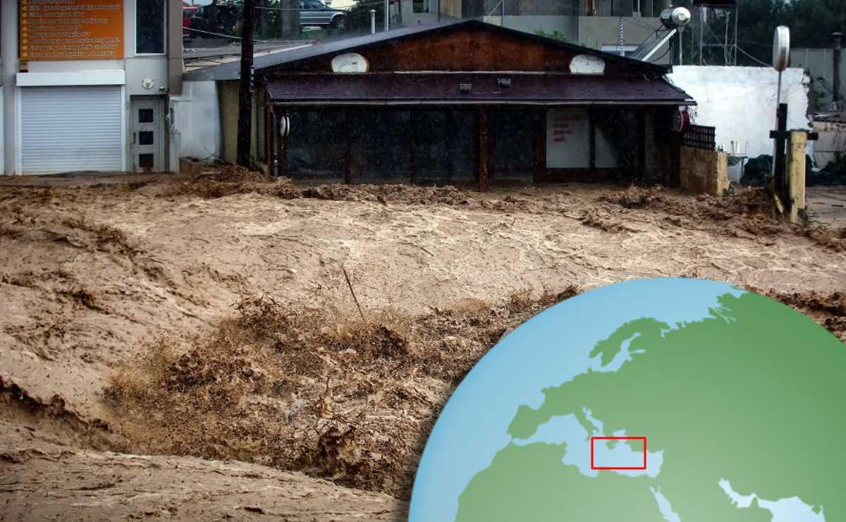 Una poderosa inundación cubrió la isla de Creta