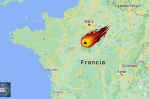 Captan el impacto de un enorme meteorito en Francia (videos)