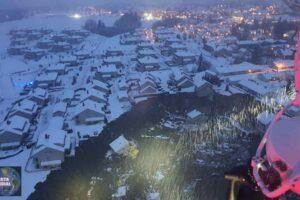 Deslizamiento de tierra se traga una ciudad en Noruega