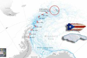 Iceberg más grande que Puerto Rico amenaza con impactar y provocar un desastre inminente