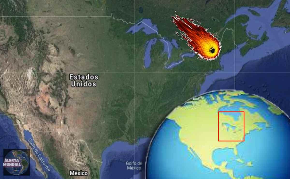 Meteorito en Canadá y EE.UU