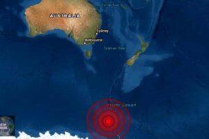Sismo de magnitud 6.0 en la Isla Balleny del Pacifico Sur